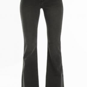 Black regular real 5 pocket flare jeans