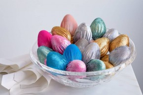 Easter Handmade Velvet Eggs Decor