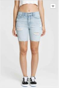 Eunina - Kailey high rise mid thigh shorts