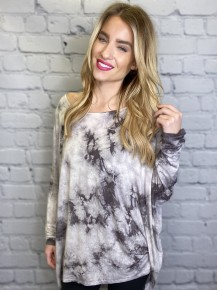 FSL Apparel - Oversized garment tie dye tunic top