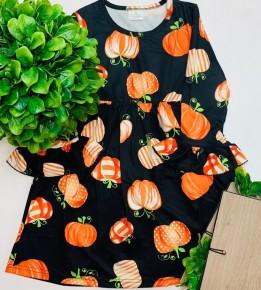 Black halloween pumpkin dress