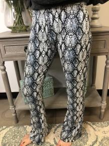 Blue snake print pants