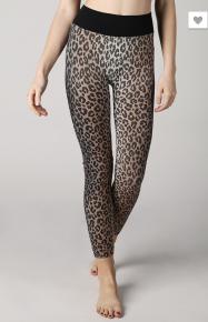 NikiBiki- Seamless leggings featuring an allover leopard print