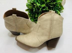 Qupid- Stone distressed heeled booties