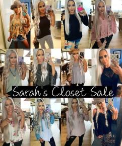 Sarah's Closet Sale!