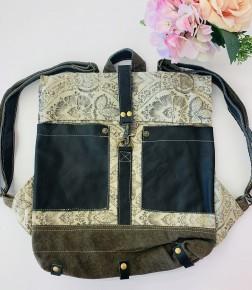 Myra Bag- Floral Print Backpack Bag