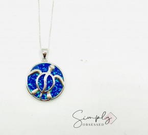 Sterling Silver Hawaii Honu Sea Turtle Necklace
