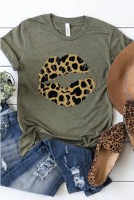 Leopard Lips Top