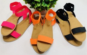 Open toe elastic band ankle strap sandals