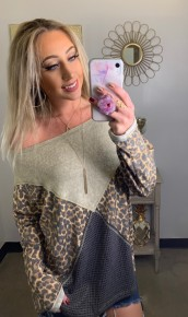 Ces Femme- Animal print long sleeve top