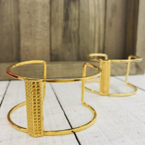 24K GOLD CENTER BAR CUTOUT CUFF