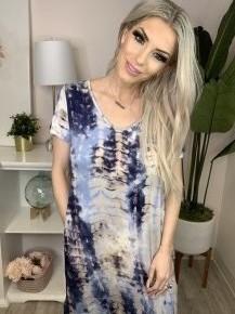 ee:some- Tie-dye maxi dress