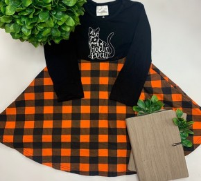 Honeydew- Kids long sleeve Hocus Pocus dress