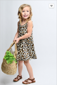 12 pm - Kids sleeveless leopard print dress
