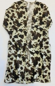 Honeyme- Long sleeve cardigan with cow spots