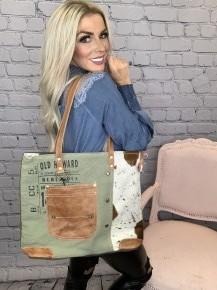 Myra Bag- Leather Pocket Totebag