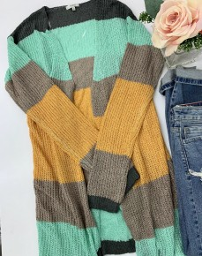 Jodifl- Long sleeve stripe knit sweater