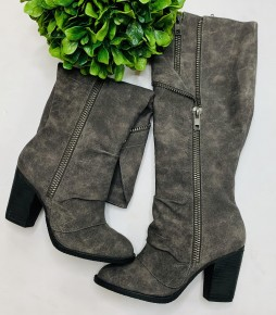 Not Rated - Boots w/ flap on top, heel on bottom, and zipper on side
