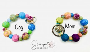 Specialty wrist keychains with detailing and gift card packaging made of clay