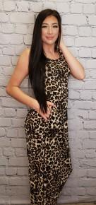 Heimish- Sleeveless animal print maxi dress