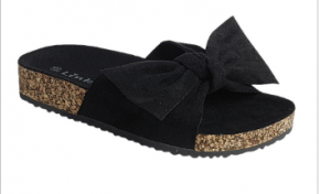 Forever - Kids bow tie slip on sandals