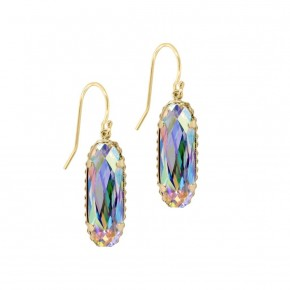 Sterling Silver Willow Earrings In Crystal AB in Gold or Silver