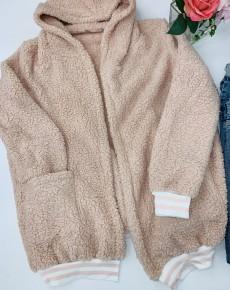 Esley Collection- Long sleeve fleece like cardigan sweater