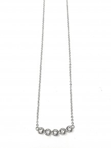 Stunning 5 CZ Sterling Silver Necklace