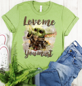 PRE-ORDER Trending Baby Yoda Top - All Sizes You MUST AUTHORIZE to get one!
