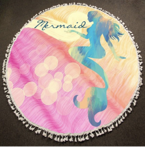 5 foot Round Mermaid Towel