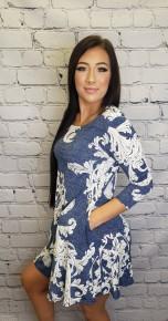 Honeyme - Plus size 3/4 sleeve bulgari dress