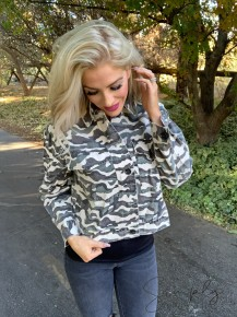 Built By Dreamers- Long sleeve button up camo jacket