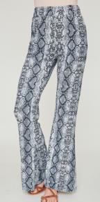 Wide leg snake printed pants