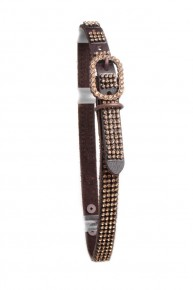 Mesh Rhinestone Studded Leather Dog Collar