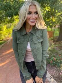 Hidden- Regular fitted jacket with uneven hem