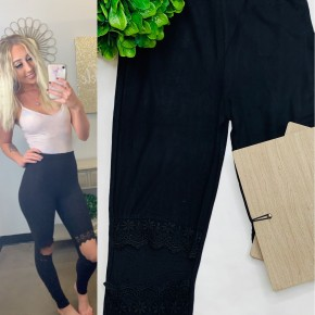 Hayden - lace cut-out brushed legging