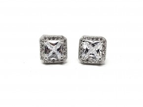 CZ Square studded earrings
