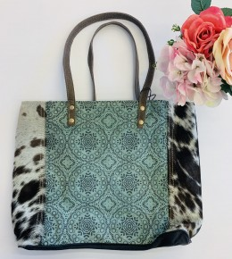 Myra Bag- Floral Chic Canvas Tote Bag