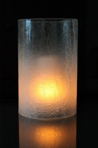 The Light Garden-Crackled glass cylinder