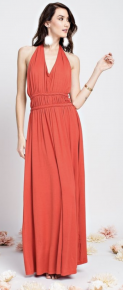 Crimson romantic maxi dress