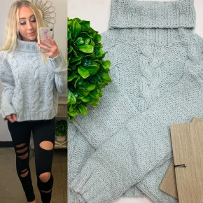POL - Turtle neck mohair knit sweater
