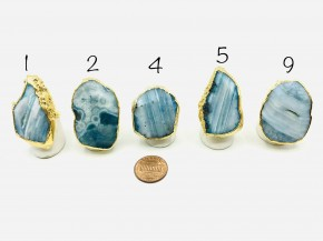 BLUE AGATE SIZED RINGS