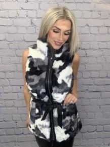 Very Moda- Camo faux fur vest