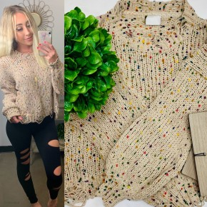 POL - Multi color knitted sweater