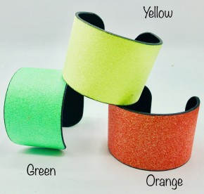 Neon Glitter Cuff