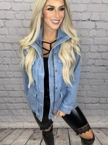 Judy Blue- Denim utility jacket