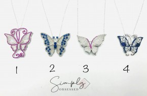 Stunning Decorative Butterfly Necklaces