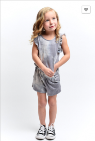 12PM by Mon Ami - Kids sleeveless tie dye print romper