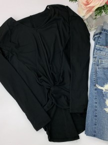 HYFVE- Long sleeve top with front knot