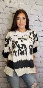 T Party - Tie dye front slitted top